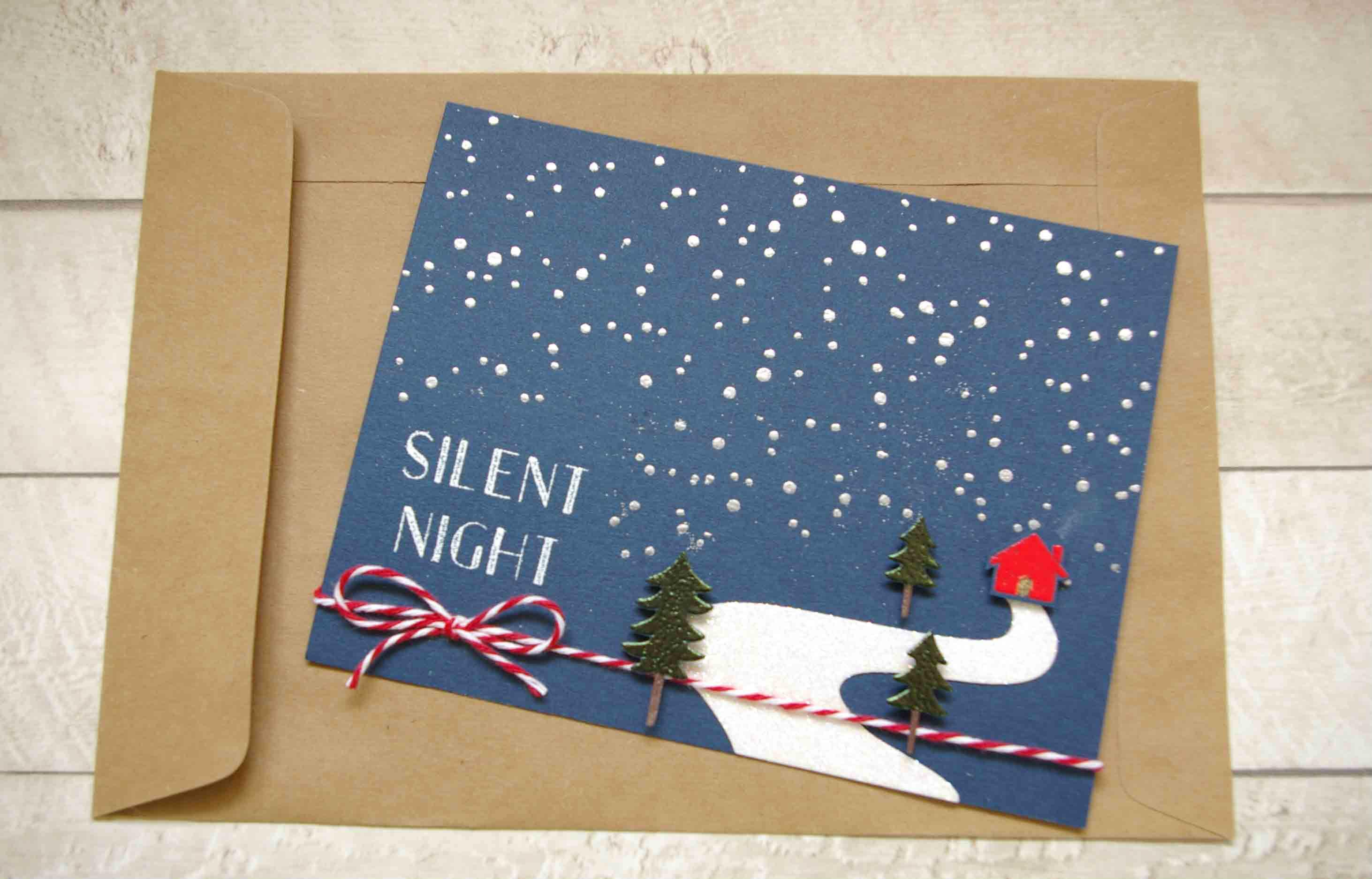 Tolle Weihnachtskarte Vorlage finden Sie hier!