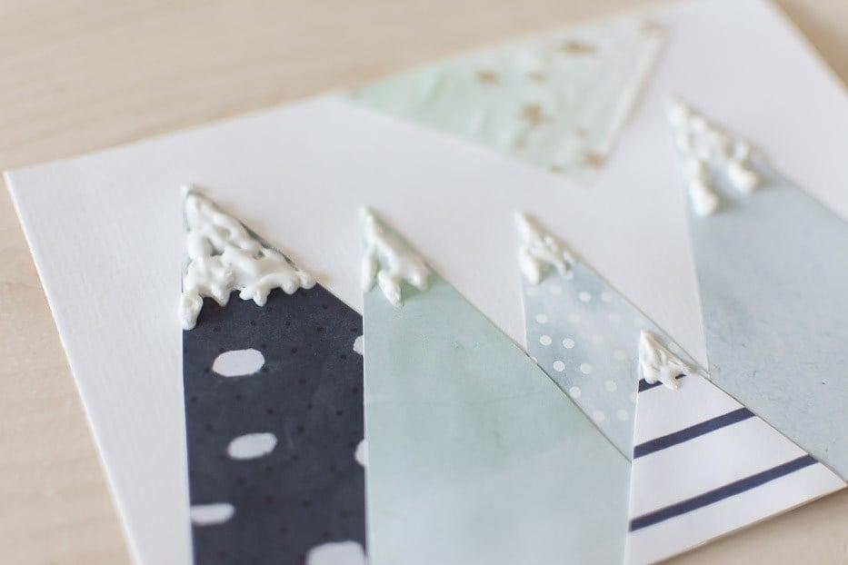 schaffen sie einen 3d effekt beim weihnachtskarten basteln. Black Bedroom Furniture Sets. Home Design Ideas