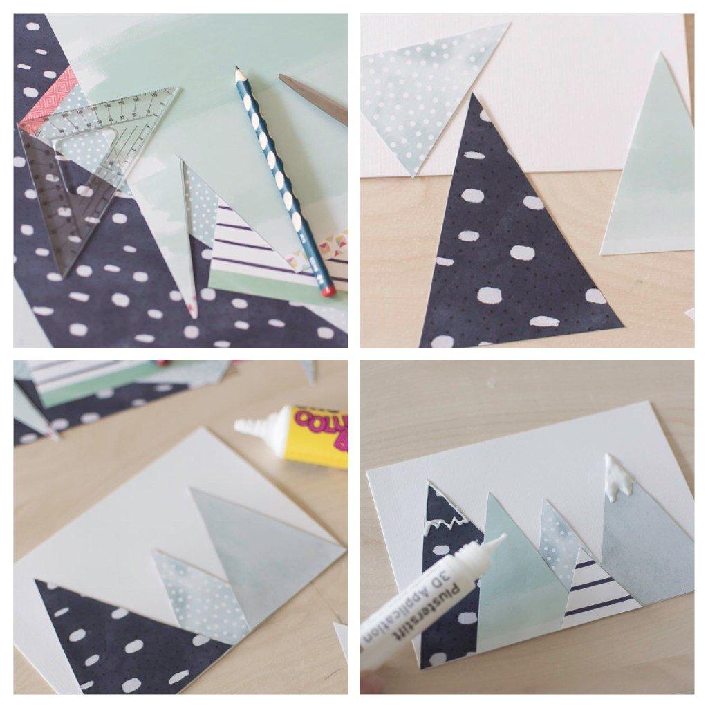 Schritt für Schritt Anleitung für Weihnachtskarte Basteln