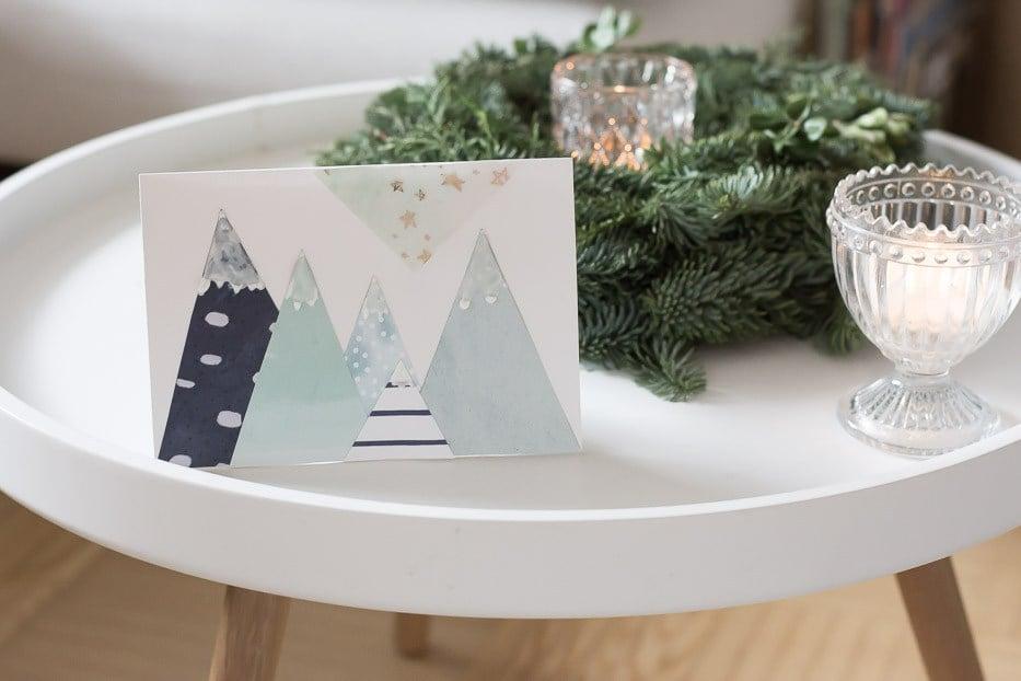 schaffen sie einen 3d effekt beim weihnachtskarten basteln bastelideen weihnachtsdeko ideen. Black Bedroom Furniture Sets. Home Design Ideas