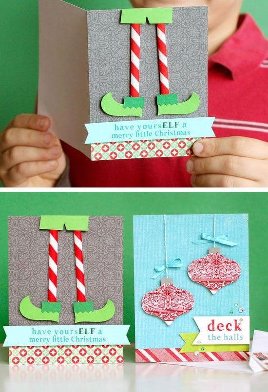 Möchten Sie Weihnachtskarten selber basteln?