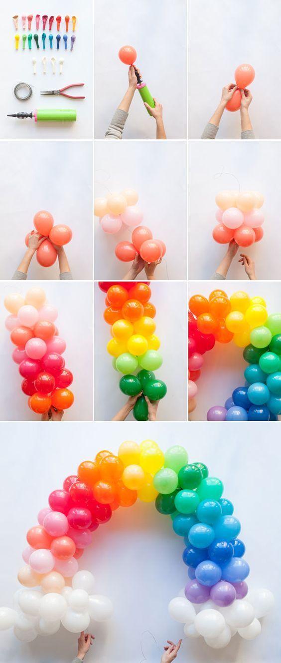 Regenbogen aus Ballons