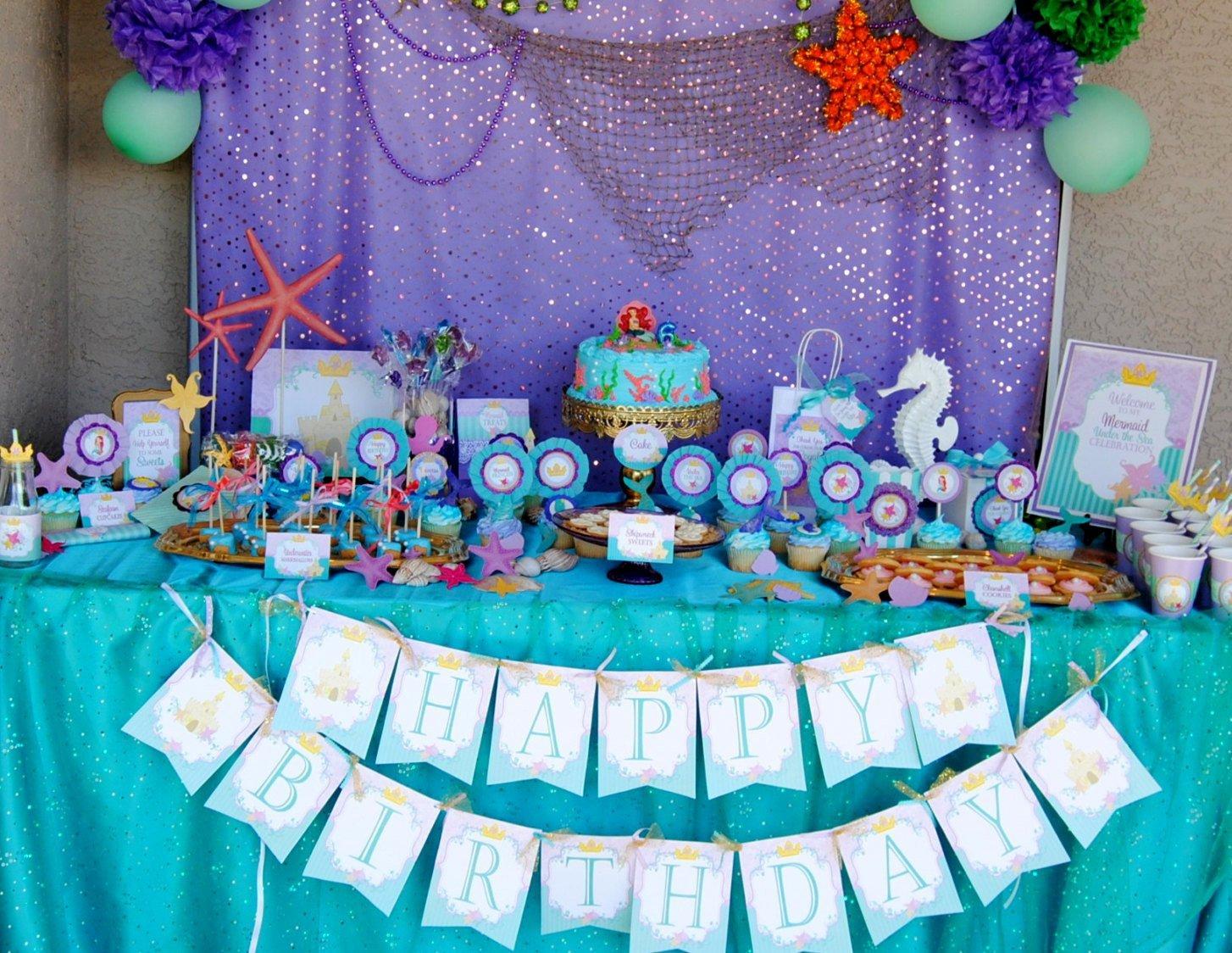 Bastelideen für Kindergeburtstag-Arielle-Party