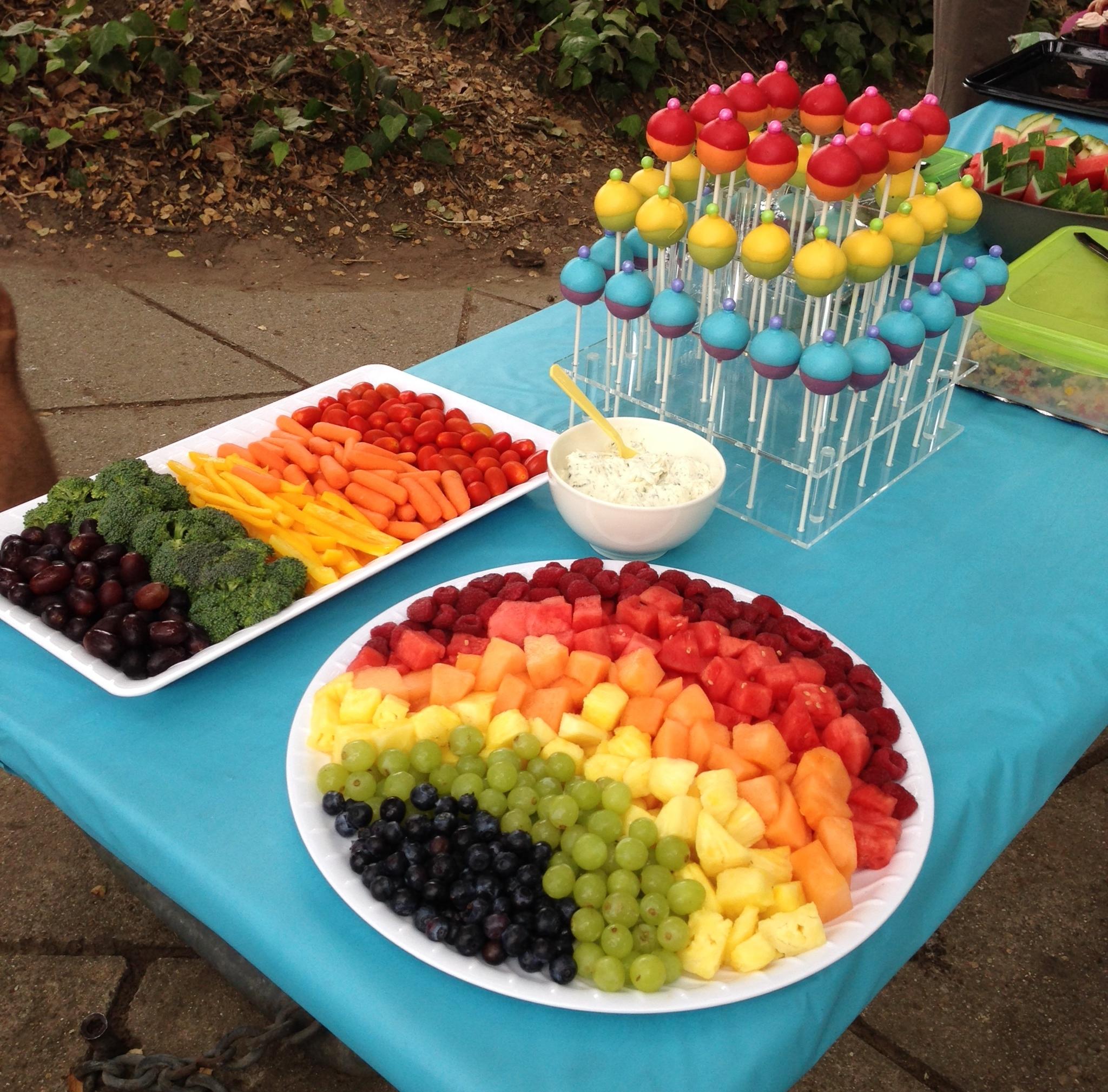 Regenbogen-Geburtstagsparty