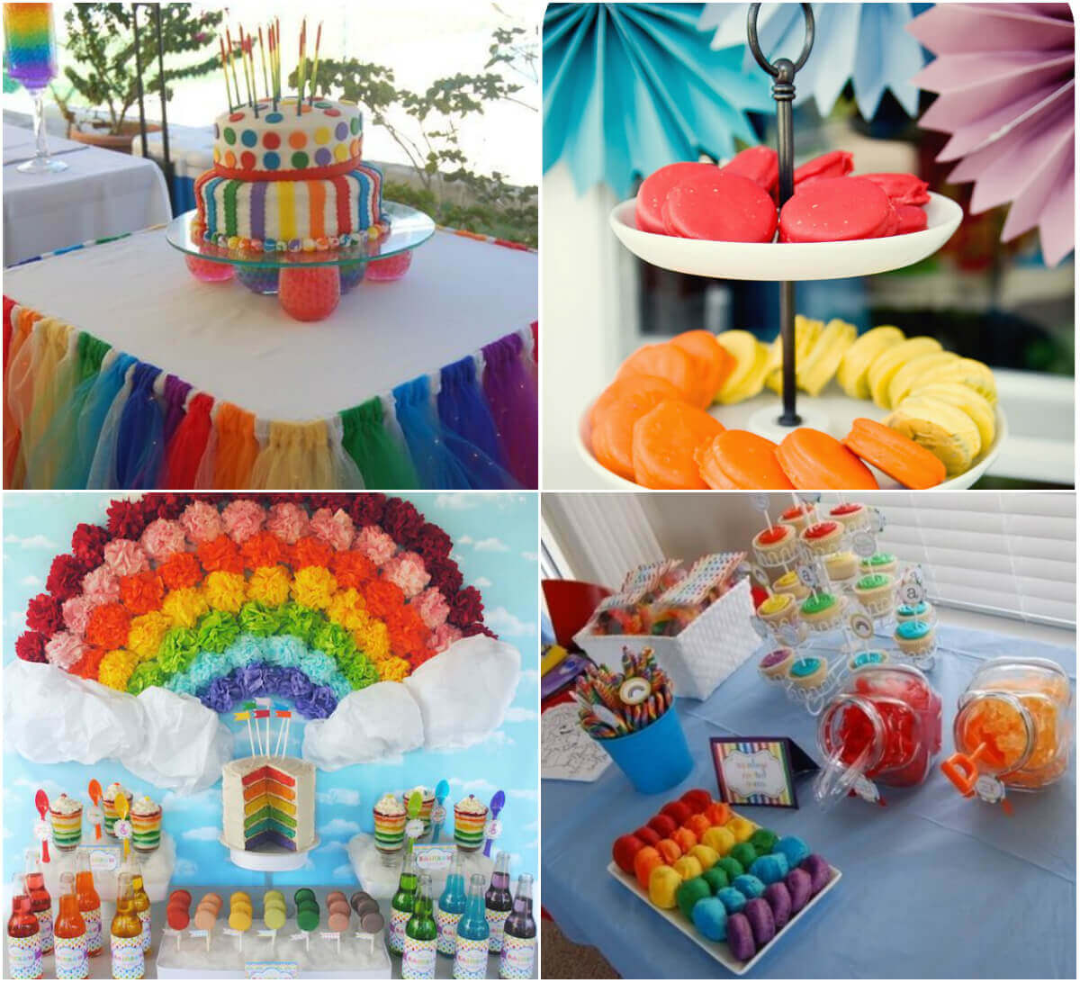 Regenbogen-Party mit Regenbogen-Dekoration