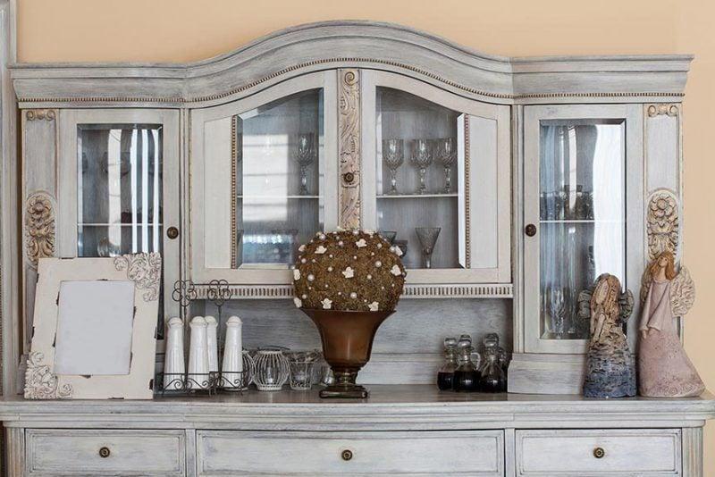 Vintage Möbel Kerzenwachs Wohnwand selber bauen
