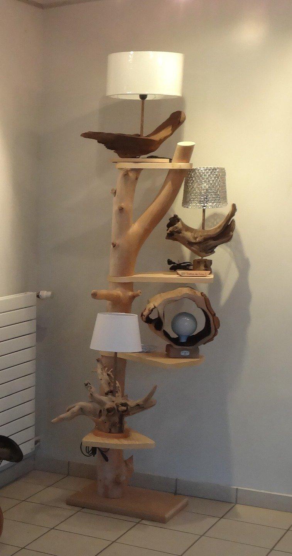 Holz-Etagere - sehr schick und ausgefallen