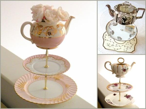 Ausgefallene Etagere für Teeparty