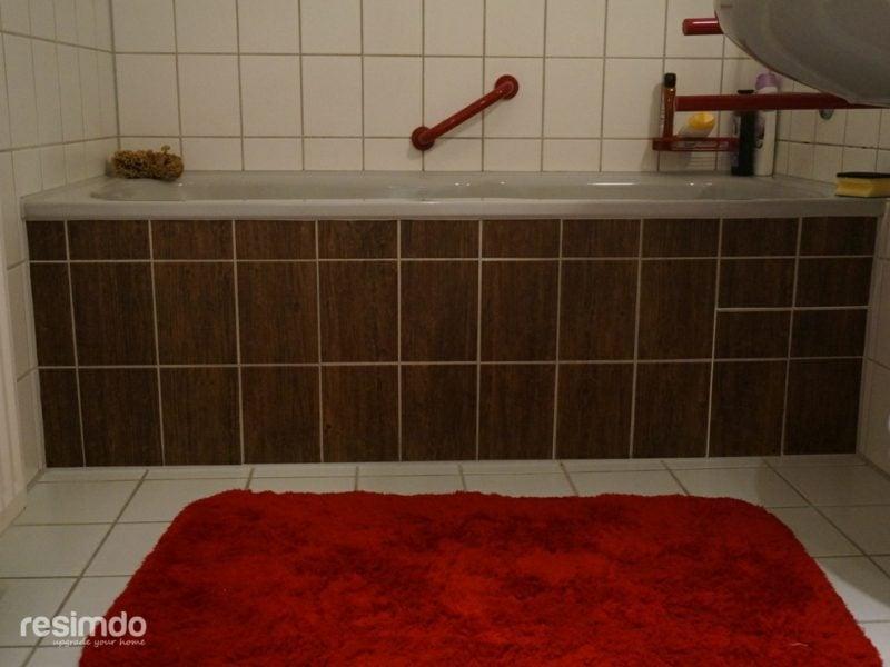 Fliesen überkleben Bad ohne Fliesen