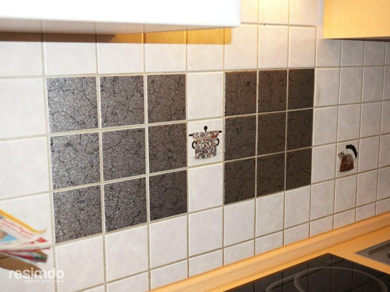 Wandfliesen Küche überkleben tolle Muster selber gestalten