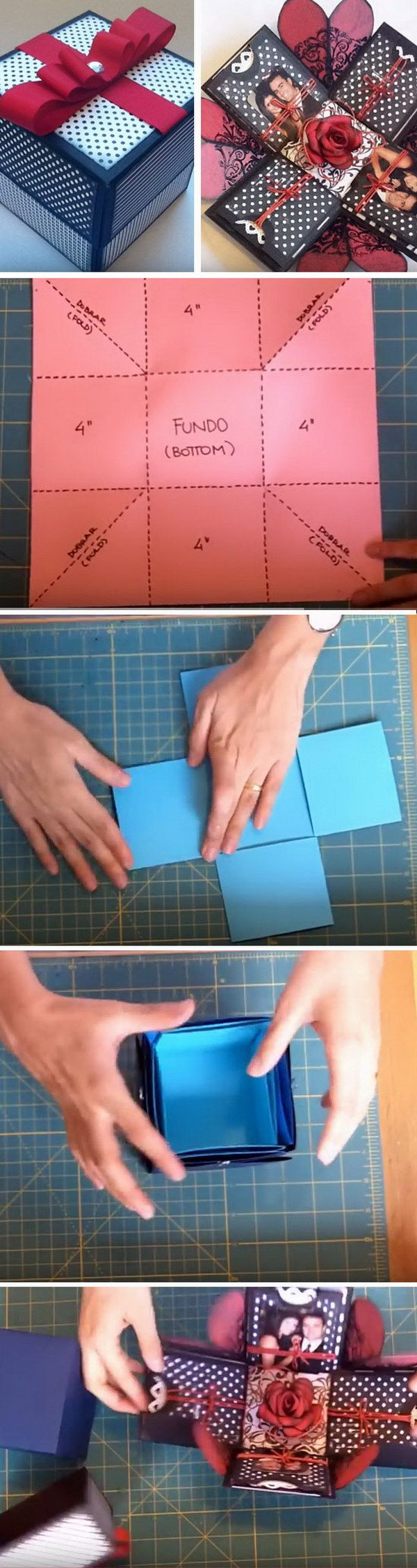 Box-Fotoalbum zum Selbermachen mit Anleitung