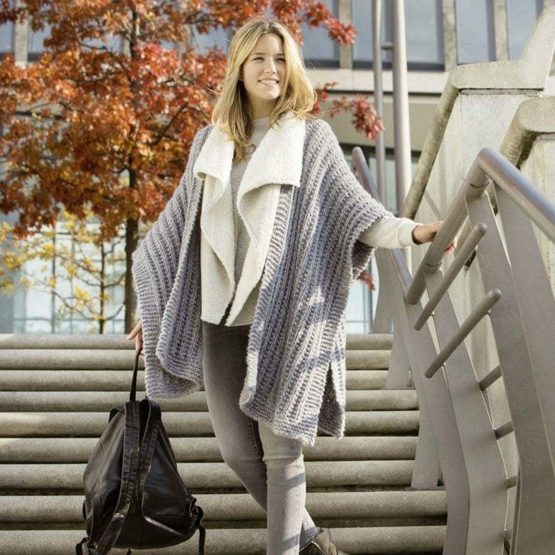 Poncho Damen elegante Winterkleidung