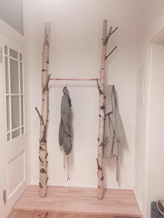 Birkenstämme - Garderobe