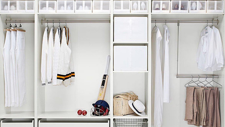 Garderobe selber bauen in Weiss