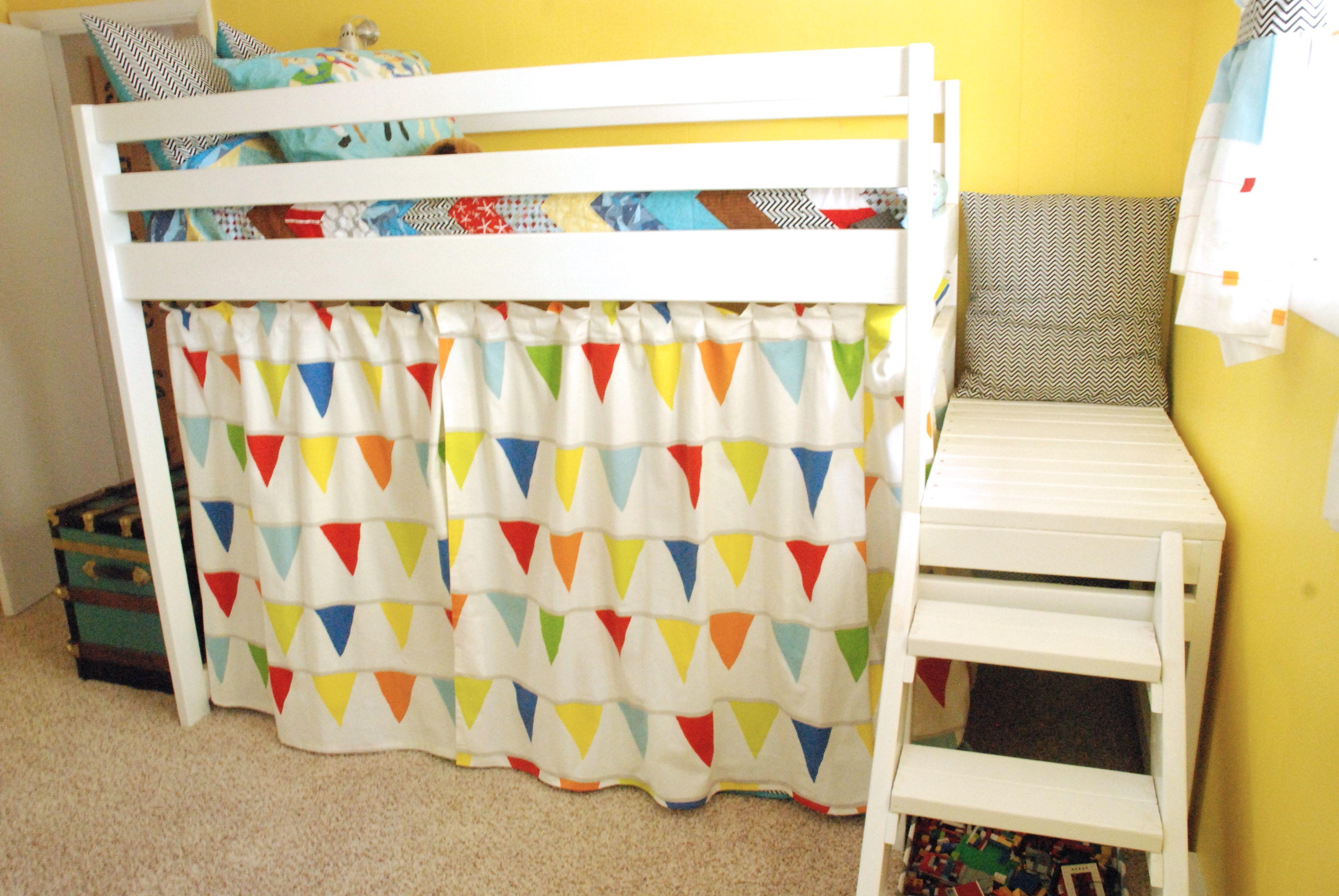 Gardinen nähen für Kinderbett