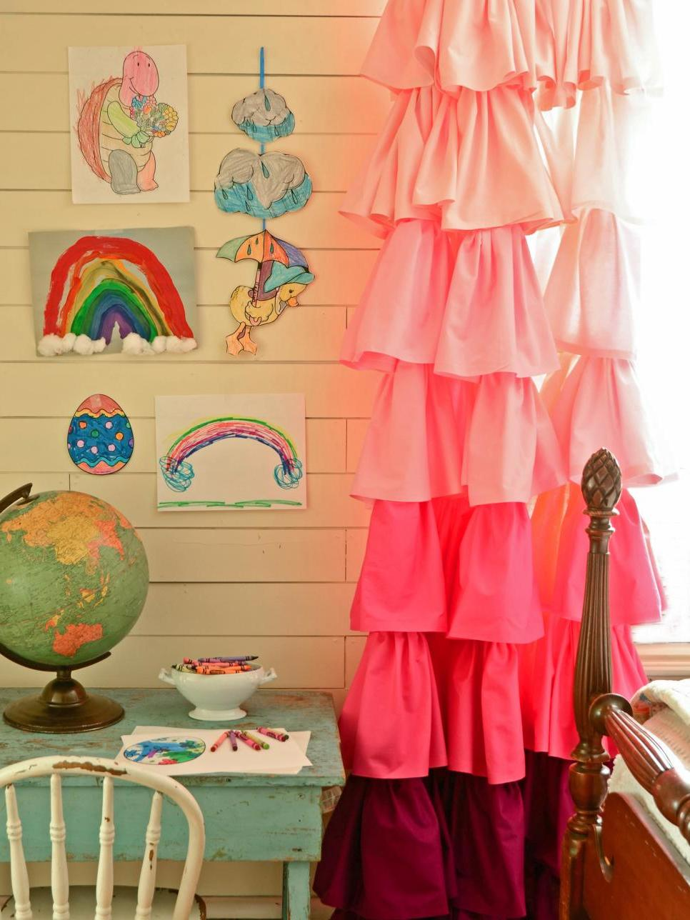 lustige Gardinen für das Kinderzimmer