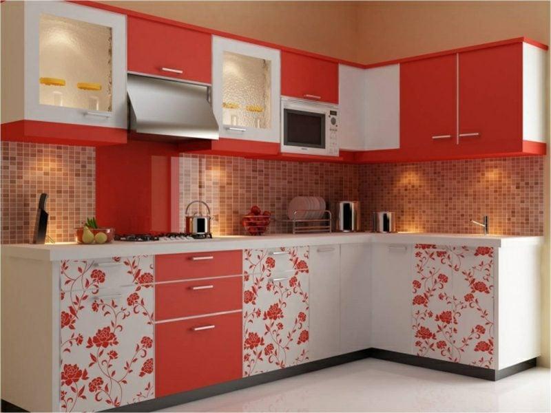 Wandgestaltung Ideen Küche Mosaikfliesen