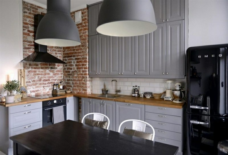 Wandgestaltung Ideen selber machen Küche Backsteinwand