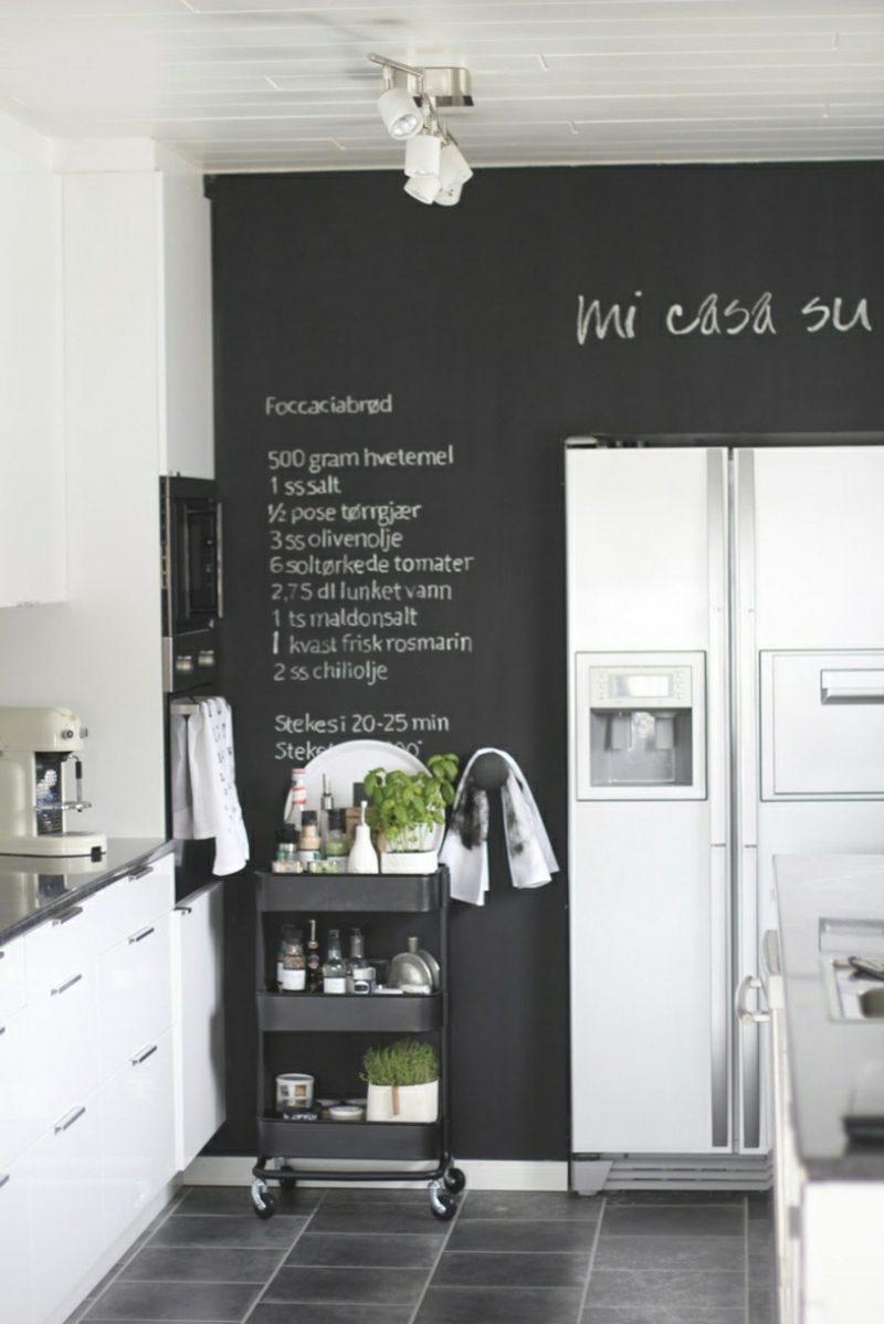 Wanddeko selber machen Tafel Küche