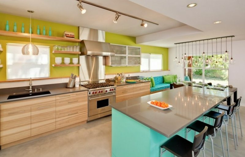 Wanddeko Ideen Küche tolle Farbakzente