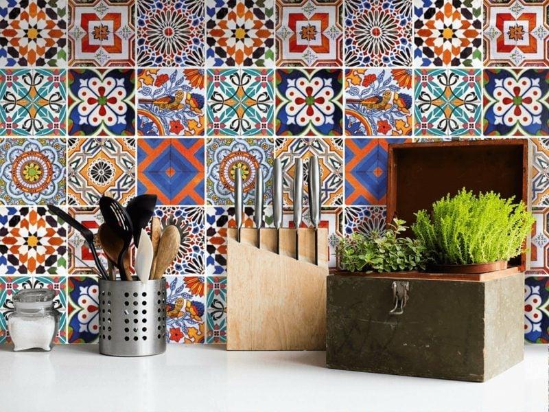 Wandfliesen Küche PVC Fliesen selbstklebend