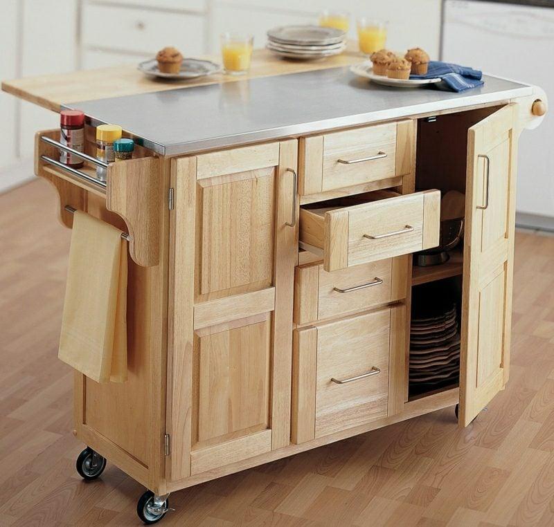 Küche Ideen praktische Kücheninsel DIY