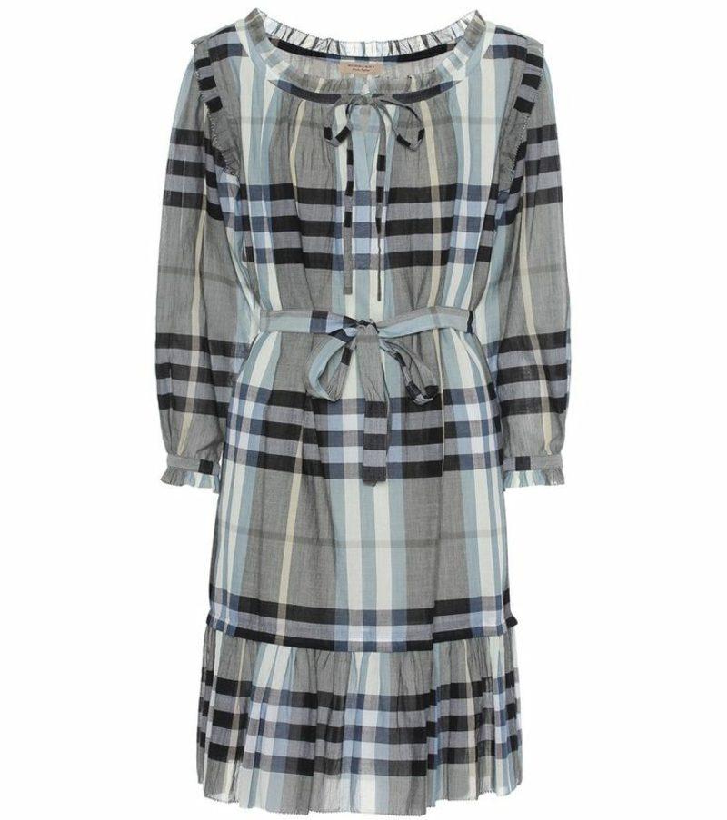 moderne Karomuster Burberry Muster Burberry Kleid