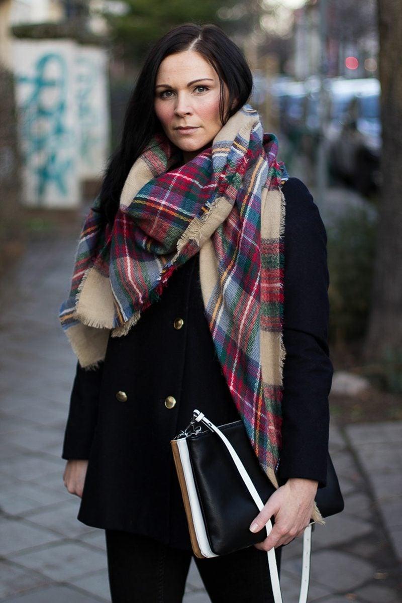 Karomuster Modetrends Winter Schal Burberry Muster