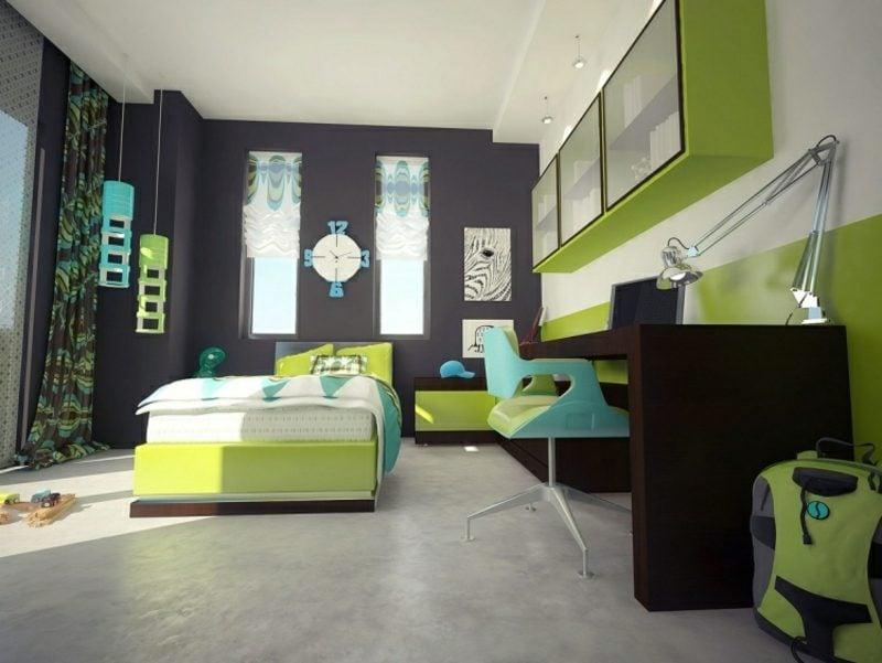 Wandfarben Ideen Grau Kinderzimmer