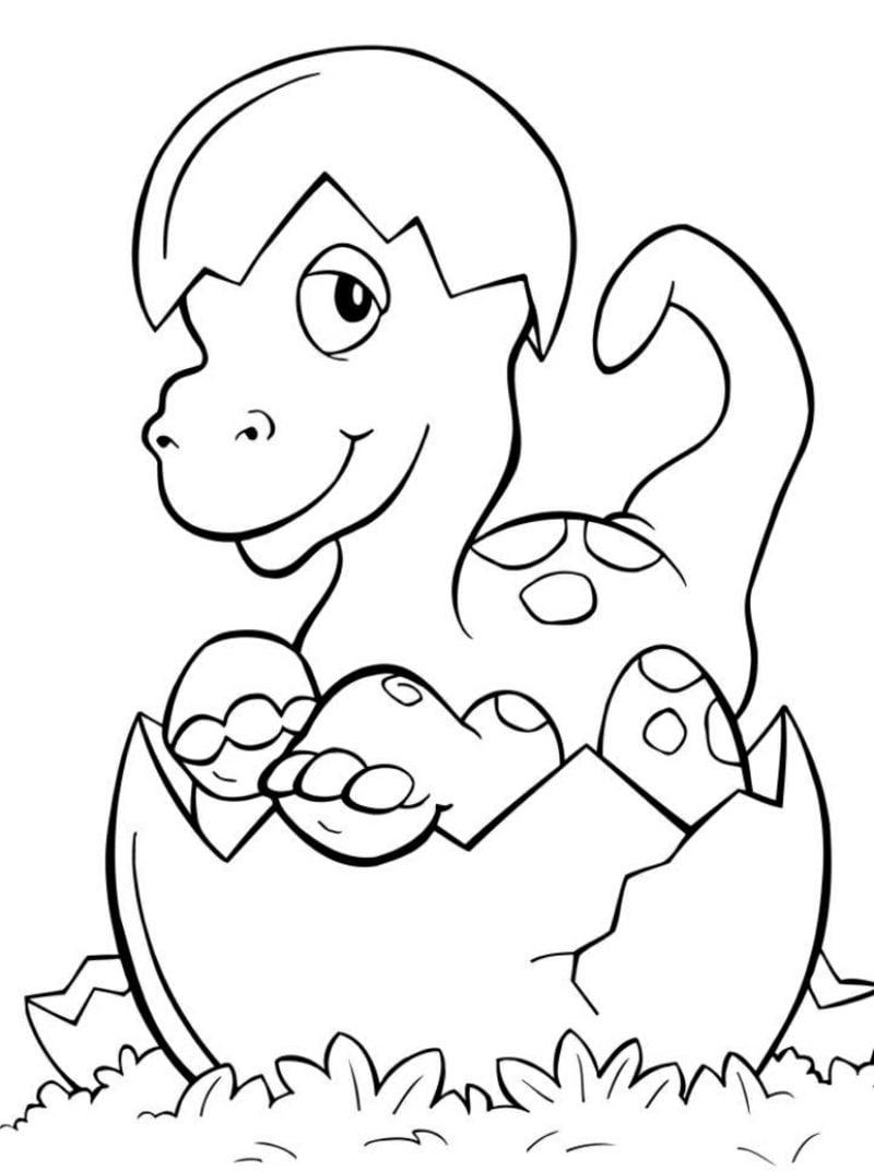 Kinder Ausmalbilder Dinosaurier