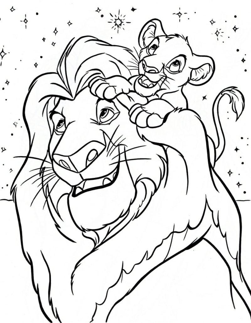 Kinderbilder zum Ausmalen Malvorlagen gratis Löwen