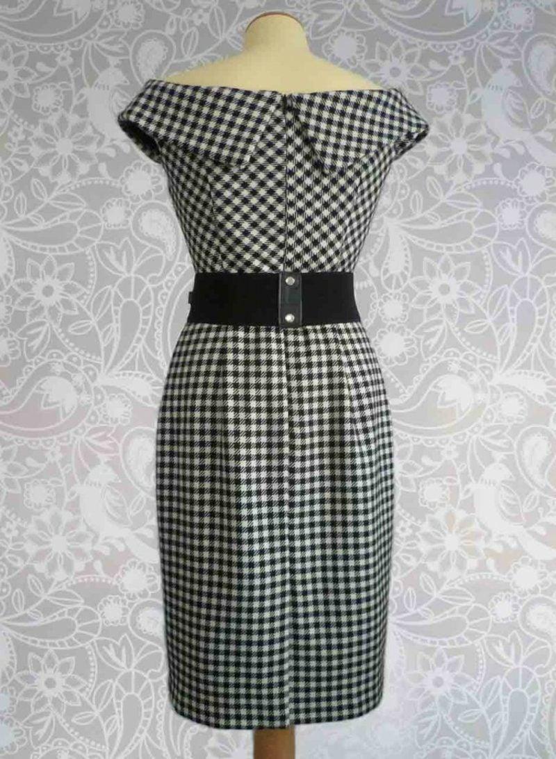 Modetrends 2016 Herbst elegantes Kleid Pepita Muster