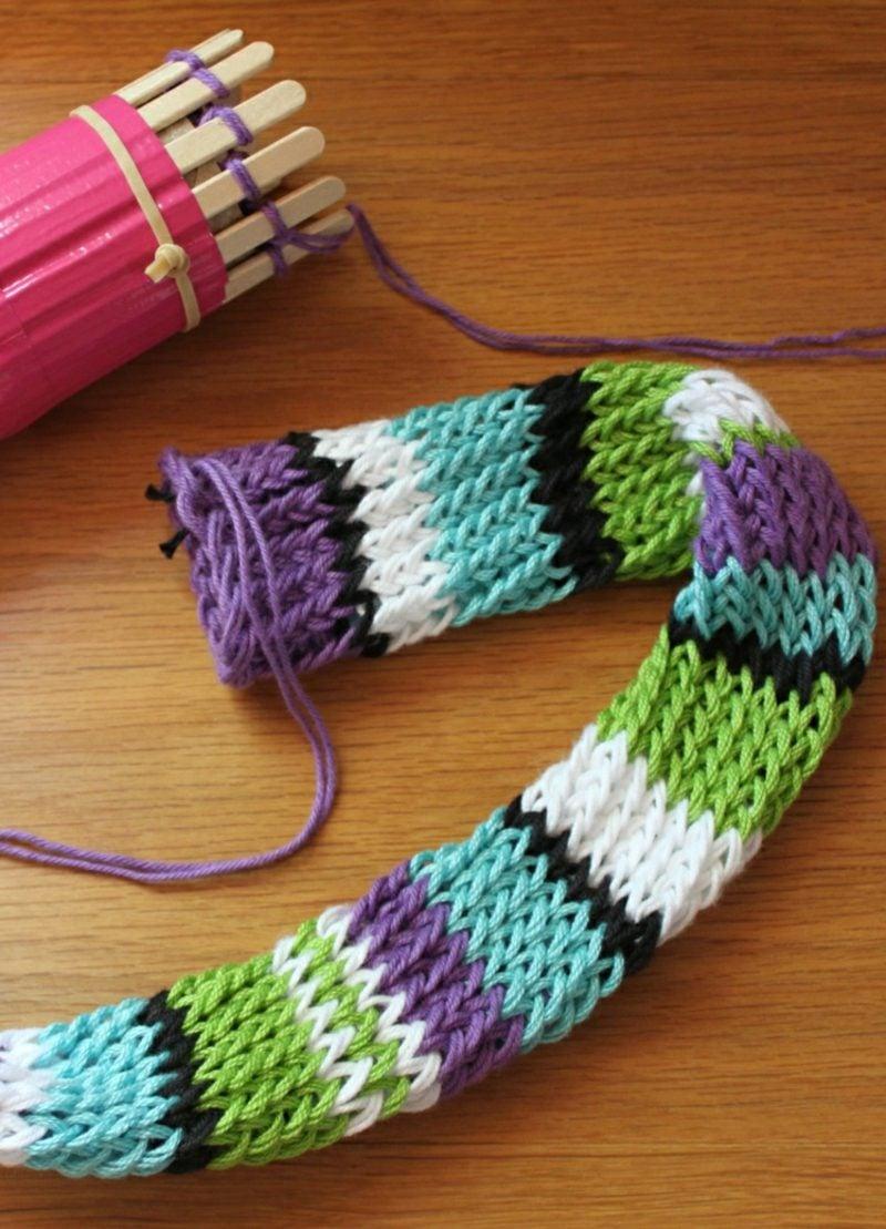Schal stricken mit Strickliesel