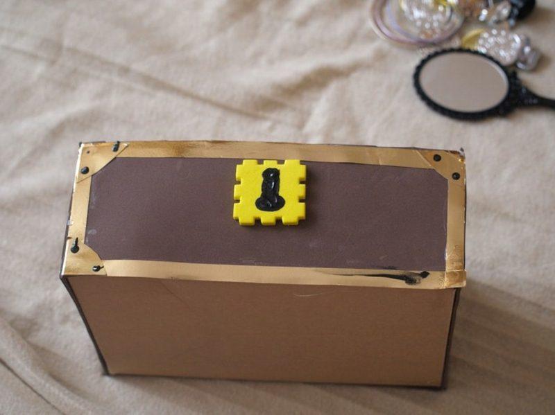 Schatzkiste basteln DIY Ideen Schuhkarton