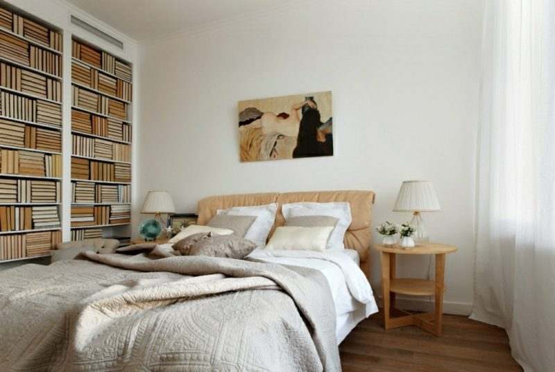 Wandgestaltung Ideen selber machen Fototapete Schlafzimmer