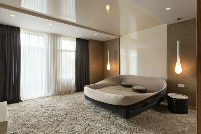 Wanddeko Ideen Schlafzimmer Hochglanzpaneelen