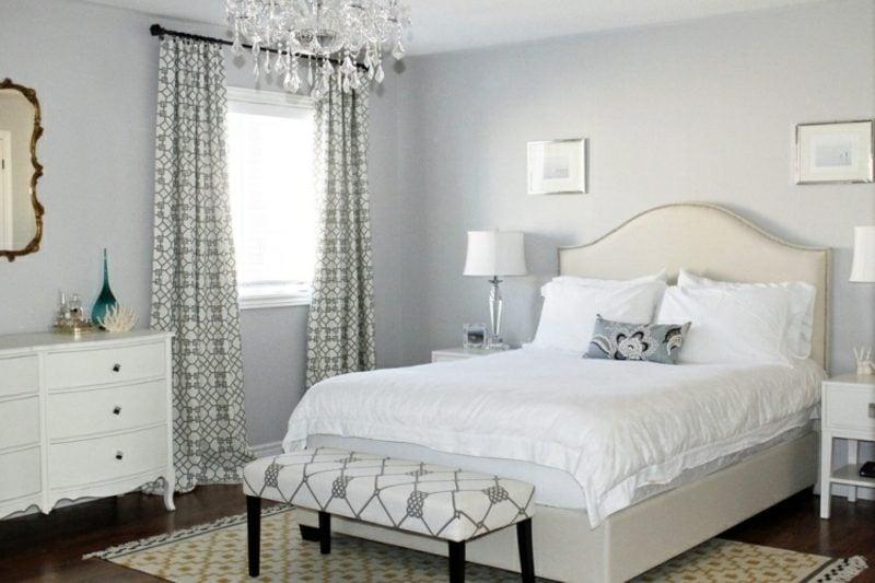 Schlafzimmer Wandfarbe Hellgrau modern herrlicher Look