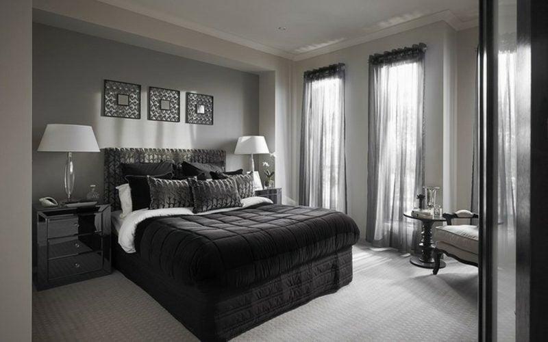 Schlafzimmer Wandfarbe Perlgrau