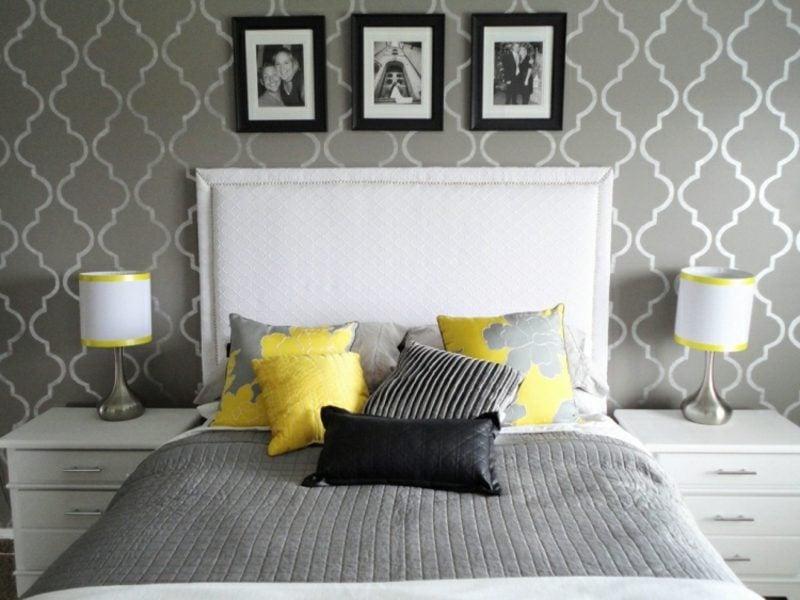 Schlafzimmer Wandfarbe modern Hellgrau