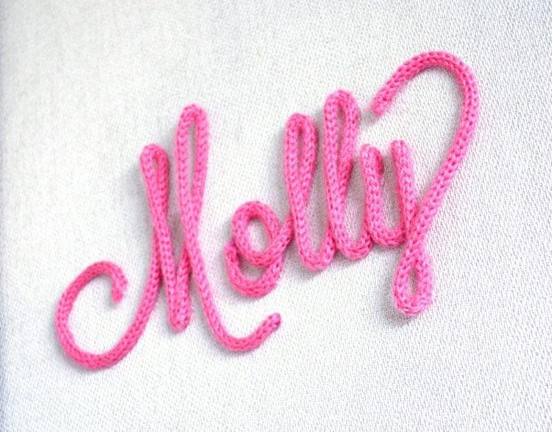 Basteln mit strickliesel Schriftzug selber machen
