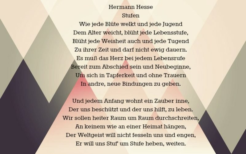 Abschiedssprüche Gedicht von Hermann Hesse