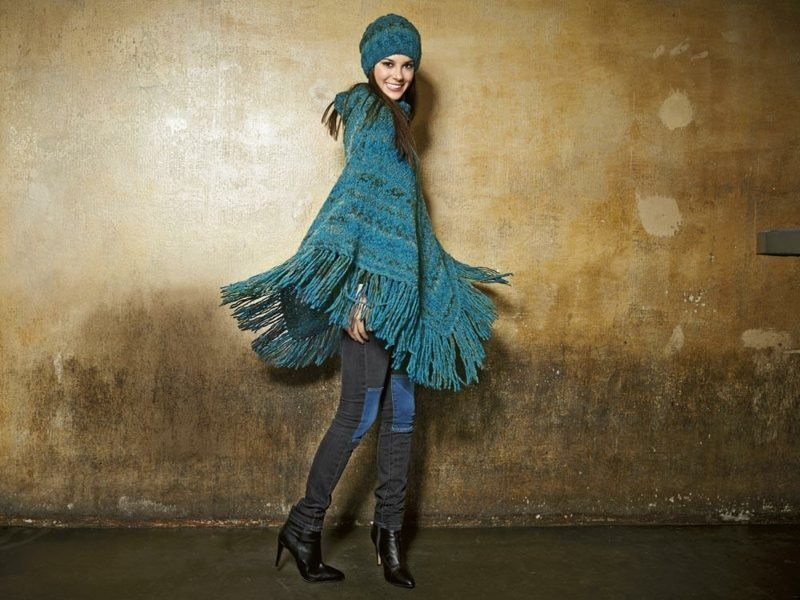 Poncho stricken kreative DIY Ideen