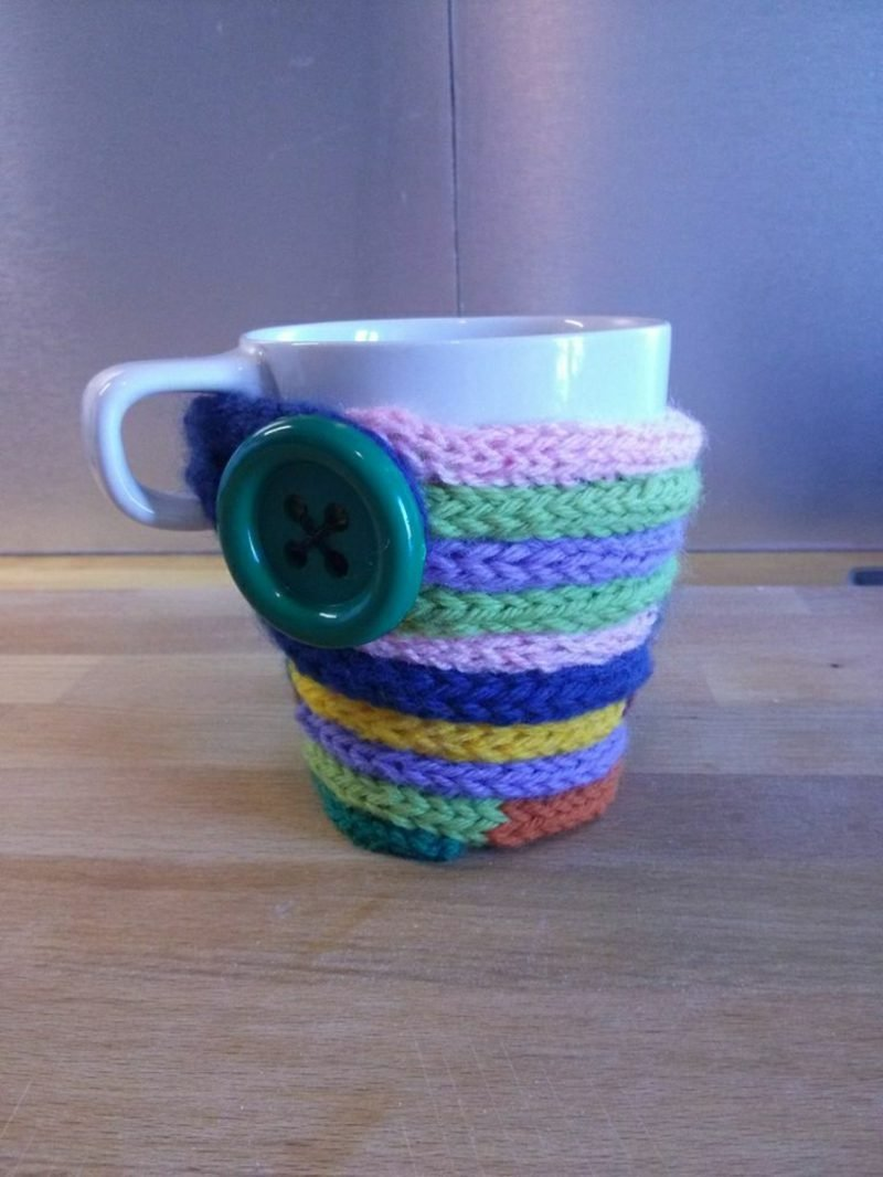 Basteln mit Strickliesel Tasse aufpeppen