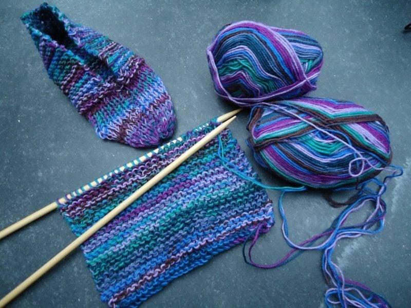 Stricken für Anfänger Socken selber stricken