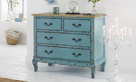 Vintage Möbel selber machen Kommode Hellblau