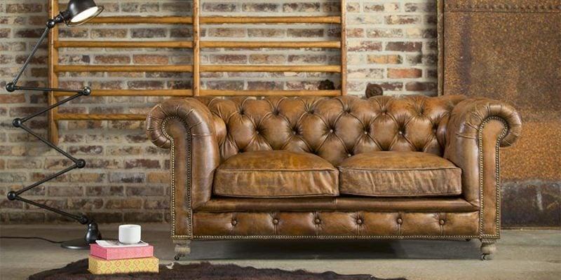 Vintage Möbel selber machen Einrichtung bequemes Ledersofa Sabby Chic Möbel