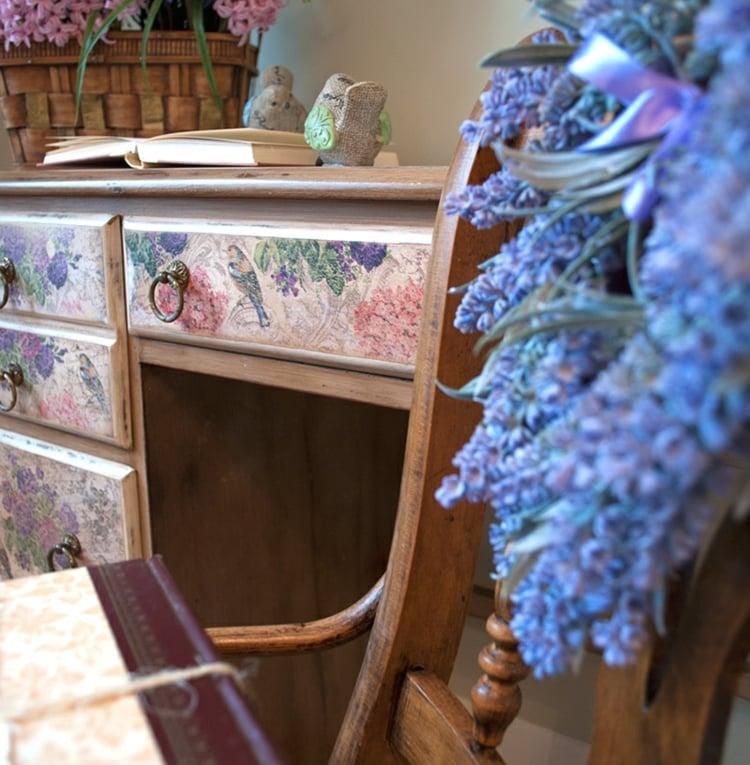Vintage Möbel selber machen Schreibtisch herrlicher Look Wohnwand selber bauen
