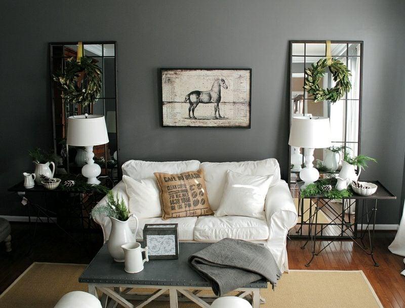 graue Wand streuchen Vor- und Nachteile Wohnzimmer