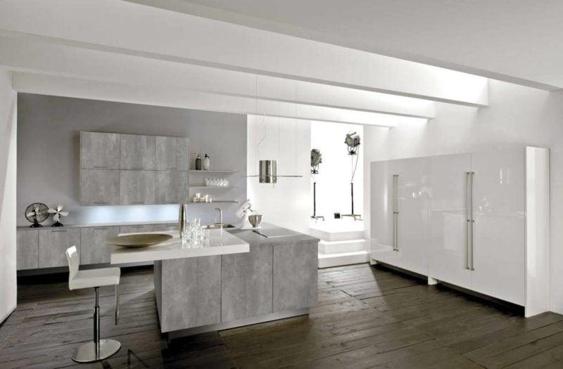 Küche Grau modern Nuance Perlgrau