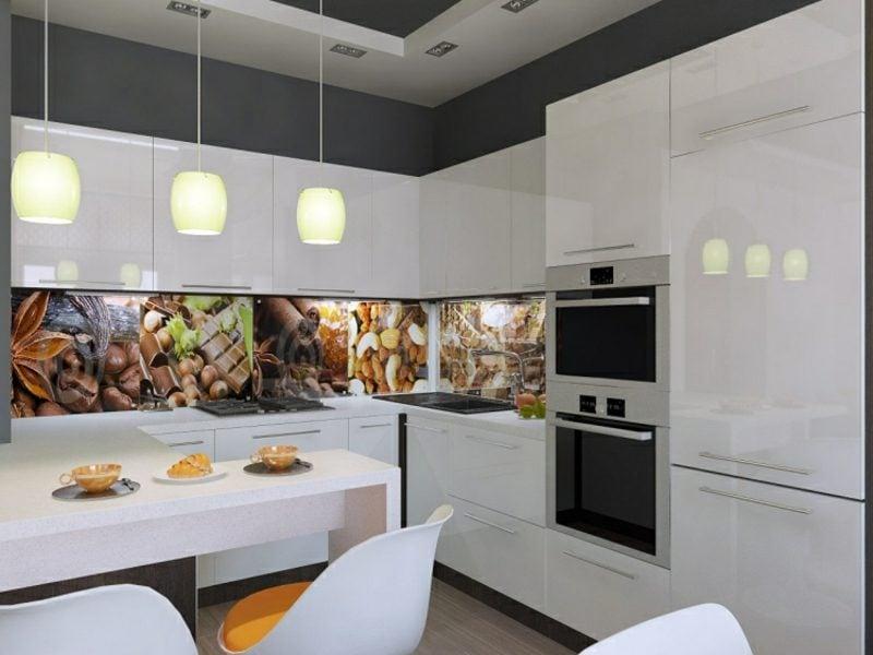 Wände gestalten Küche Rückwand Fototapete
